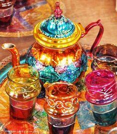 Tea Set from Morocco colorful tea teacup teapot exotic tea set tea party…