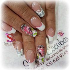 Fingernail Designs, Toe Nail Designs, Acrylic Nail Designs, Manicure, Diy Nails, Glitter Nails, Spring Nail Art, Spring Nails, Butterfly Nail Designs
