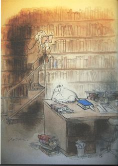 Library Cat - Ronald Searle