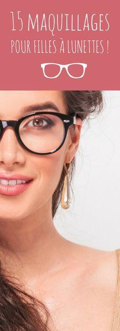 15 maquillages pour filles à lunettes ! Make Up Tutorial Contouring, Makeup Tutorial For Beginners, Makeup Blog, Makeup Tips, Hair Makeup, Makeup Eyeshadow, Makeup Brushes, Eyeliner, Vintage Glam