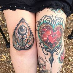 Heart Container tattoo of Brittany Graves