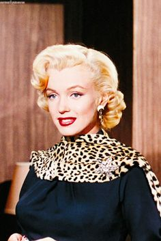"Marilyn in ""Gentlemen Prefer Blondes"" (1953)."