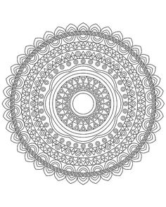 Mandala coloring pages Mandala coloring book Adult by hedehede