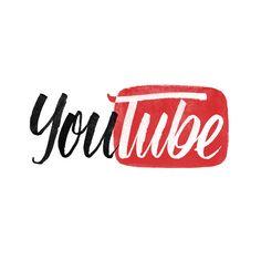 Brand by Hand – Handlettering bekannter Logos Youtube Design, Youtube Banner Backgrounds, Youtube Banners, Youtube Logo, Youtube Youtube, Logo Mano, 2048x1152 Wallpapers, Draw Logo, Handwritten Type