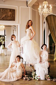 love the soap opera-style shot with the bridesmaids