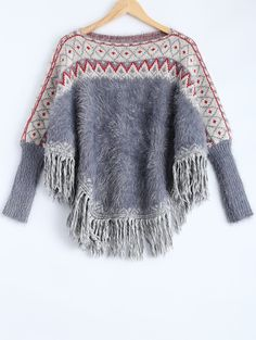 Boat Neck Fluffy Batwing Sweater Join Sammydress: Get YOUR $50 NOW! and a chance to get it for FREE!!