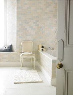 Chic Craquele Medium White offers unique beauty and vintage ambience to any bathroom or living space.  A gentle colour hue in a beautiful crackle glaze and softly crafted biscuit makes this tile individual and inspiring.   The soft hues featured in the range can be co-ordinated or used alone for a contemporary look.