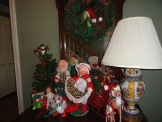 annalee dolls displayed in foyer santa and mrs claus hold candy making it a favorite of my daughters - Annalee Christmas Decorations