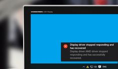 This time we will talk about pretty common problems that Windows 10, 8.1 and 7 users may encounter—it's the Display driver stopped responding and has recovered error.