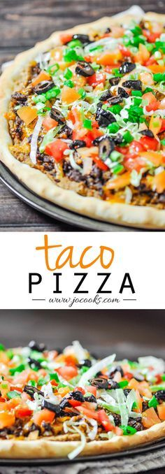 Taco Pizza: fantastic!, used a tried and true bread machine pizza dough recipe, did not use refried beans but followed the rest of the instructions. A do over. Made 11/23/15