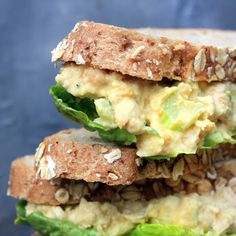 CHICKPEA EGGLESS MAYONNAISE SANDWICHES