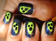 Nail-Aween Challenge Day 5: Ghosts & Goblins - October 2012