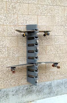 Vertical Longboard Skateboard Wall Rack Mount Wall Racks