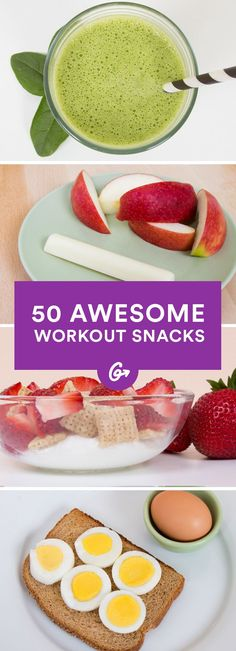 50 Awesome Pre- and Post-Workout Snacks http://greatist.com/fitness/50-awesome-pre-and-post-workout-snacks