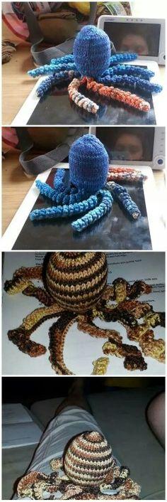 Deze inktvisjes zijn gemaakt door Bea Verdoodt.