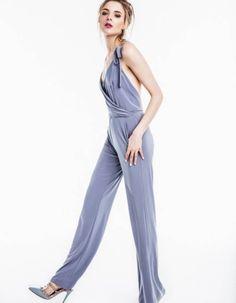 Stylizacje dnia z Inspiruj.net – Niedzielna klasyka - KobietaMag.pl Dark Blue, Jumpsuit, Navy, Dresses, Fashion, Catsuit, Gowns, Moda, Playsuit