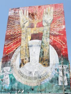 Mexican mural in Downtown Los Angeles