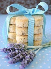 LOVE THESE COOKIES! LAVENDER SHORTBREAD COOKIES (go great with tea) I don't usually bake things, but this time of year often times finds me inspired and these Lavender Shortbread Cookies are to die for!  ¾ cup (2.25 oz) icing (confectioner's) sugar 8 drops of lavender essential oil (therapeutic)  140g unsalted butter, cut into cubes 1 tsp lemon zest 1¾ cup (8.5 oz) plain all-purpose flour 3 large egg yolks 1 cup granulated sugar (for coating) Preheat the oven to
