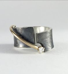 Balance Ring by Dagmara Costello: Gold, Silver, & Stone Ring available at www.artfulhome.com