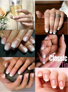 french tip wedding nails