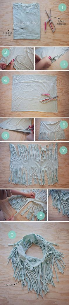 DIY Reuse of Old T-Shirt