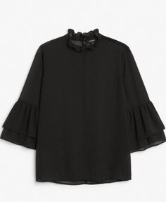 Monki trumpet sleeve shirt