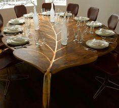 Designer Tische couchtische esstische blätter holz
