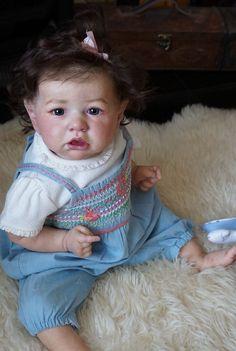 Reborn baby doll Charlotte from limited kit Saskia(skulpt Bonnie Brown)