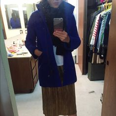 Jcrew Stadium Cloth Cocoon Coat In great condition. Warm and in a pretty royal blue. J. Crew Jackets & Coats