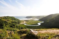 Three Cliffs Bay on the Gower Peninsula, South Wales, UK Wales Uk, South Wales, Gower Peninsula, Beaches, Golf Courses, Landscape, Awesome, Water, Travel