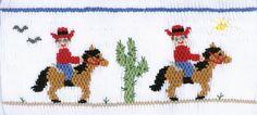 "Farmhouse Fabrics: CEC- ""Ride Em' Cowboys"" Smocking Plate by Crosseyed Cricket"