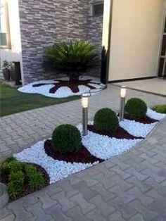 70 Magic Side Yard and Backyard Gravel Garden Design Ideas - Garten Courtyard Landscaping, Backyard Garden Design, Yard Design, Front Yard Landscaping, Backyard Patio, Landscaping Ideas, Backyard Ideas, Garden Ideas, Garden Design Ideas