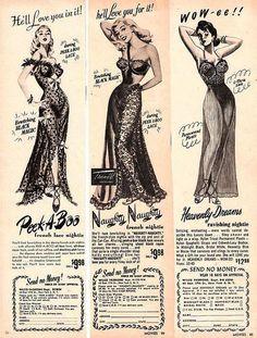 Vintage lingerie ad 1950's