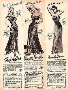 Vintage lingerie ad 1950's. It's crazy how times have changed