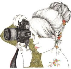 Image shared by saa. Find images and videos about girl, photography and pretty on We Heart It - the app to get lost in what you love. Camera Drawing, Camera Art, Biba Magazine, Cheese Art, Girls With Cameras, Hipster Girls, Illustration Sketches, Camera Illustration, Amazing Drawings