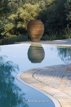 Infinity pool and terracotta urn