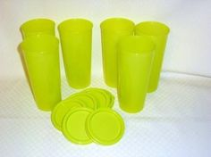 Tupperware Stacking 12 Oz Tumbler Set + Lids Margarita Green by Tupperware. $33.00. Easy to hold slim design. Set of 6 - 12 oz capacity each. Includes Liquid Tight Seals. Dishwasher Safe. Lifetime Warranty. An all-time favorite in Bold New Color! Fill with your favorite drink and freeze for an instant ice pack for any lunch! Tumblers conveniently stack to maximize space! Includes water-tight seals. 6 each 12 ounce Tumblers in Margarita Green with Liquid Tight green se...