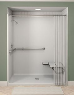 One Piece Shower Stalls With Seat Bathroom Toilet Designs