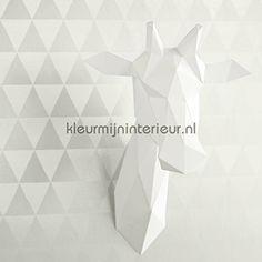 Driehoekjes behang licht 356010, Black and Light van Eijffinger