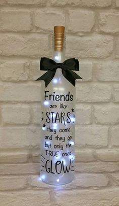 All because two people fell in love light up bottle wedding day table gift