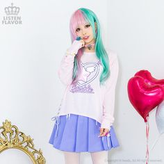 LISTEN FLAVOR Magical Twinkle Heart Lace Up Cutsew 1