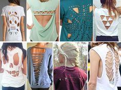 como recortar camisetas