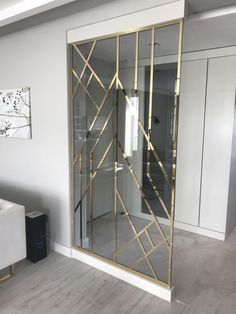 33 Incredible Room Divider Design To Make Your Home Look Outstanding - Home Decoration - Interior Design Ideas Living Room Designs, Living Room Decor, Bedroom Decor, Wall Decor, Room Partition Designs, Divider Design, Divider Ideas, Home Decor Furniture, Furniture Projects