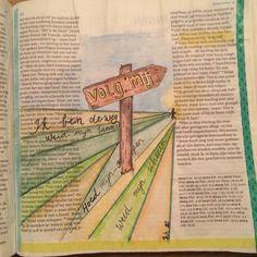 Biblejournaling Bijbeljournaling Johannes 21:19 'Volg mij' Craftbijbel