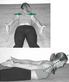 Een dergelijke houdingsbeeld kan naast pijn in de nek en arm Workout For Beginners, Beauty Hacks, Health Fitness, Sports, Stretching, Gym, Shape, Winter, Exercises