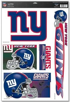 744b23df16f996 New York Giants Decal 11x17 Ultra #NewYorkGiants Nfl New York Giants,  Decals, Team