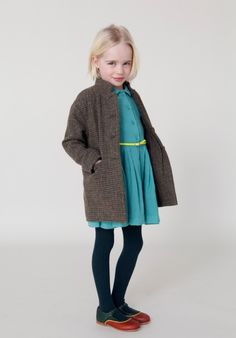 Caramel Baby and Child for fall/winter 2013 mixes classic tweeds with soft jersey and neon accessories