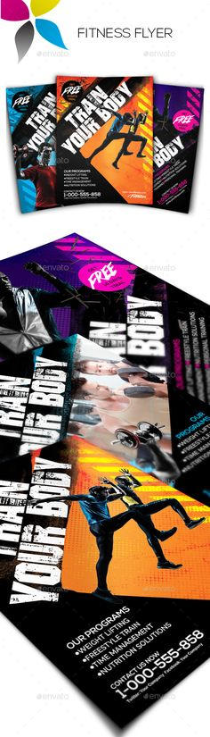 Fitness Flyer Flyer template, Fitness and Templates - fitness flyer