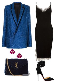 """2"" by tatiana-tsveklova ❤ liked on Polyvore featuring Haider Ackermann, Sans Souci, Christian Louboutin and Yves Saint Laurent #classyoutfits"
