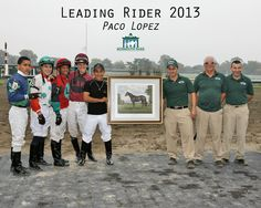 Paco Lopez Wins the 2013 Monmouth Meet with 99 Winners Stake Winners) Red Oak, High Point, Horse Racing, Meet, Baseball Cards, Sports, Red Oak Tree, Sport